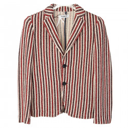 BLUE RED WHITE STRIPED JACKET