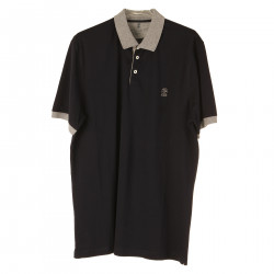 BLUE NIGHT POLO WITH LOGO
