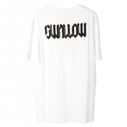WHITE T SHIRT WITH FRONT AND BACK WRITTEN
