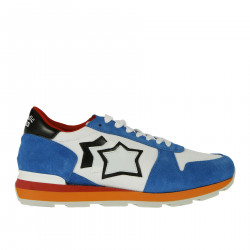 WHTE AND BLUE SNEAKER