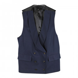 BLUE DOUBLE BREASTED VEST