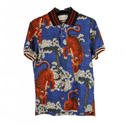 BLUE POLO WITH TIGERS FANTASY