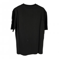 BLACK T SHIRT WITH WRITINGS