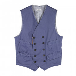 BLUE DOUBLE BREATED VEST