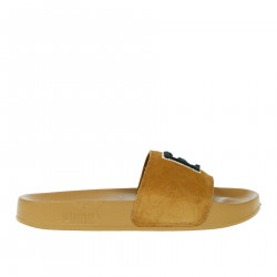 GOLDEN BROWN LEADCAT FENTY SLIPPER