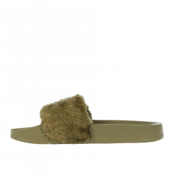 LEADCAT FENTY FUR GREEN SLIPPER