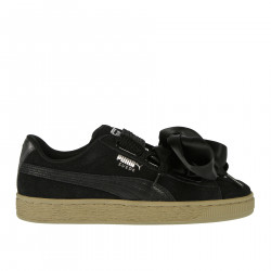 SUEDE SNEAKER WITH SATIN LACES