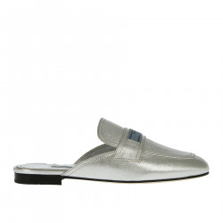 SILVER LEATHER SABOT