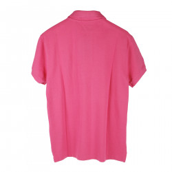 PINK POLO WITH EMBROIDERED LOGO
