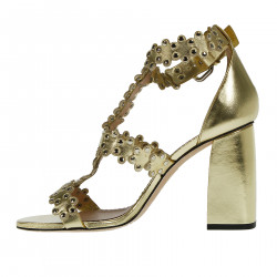 GOLD SANDAL WITH STUDS