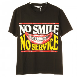 T SHIRT NERA NO SMILE