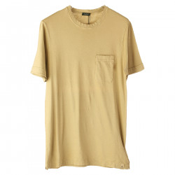 BEIGE T SHIRT WITH POCKET