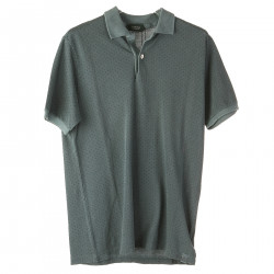 TURQUOISE POLO WITH MICRO DOTS