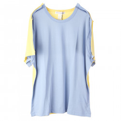 YELLOW BLUE T SHIRT