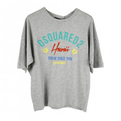 GRAY T SHIRT WITH WRITINGS