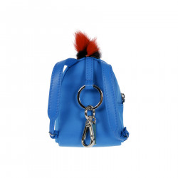 LIGHT BLUE MINI BACKPACK KEYCHAIN