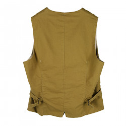 BROWN COTTON VEST