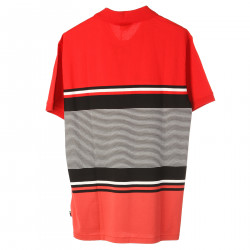 RED POLO WITH STRIPES