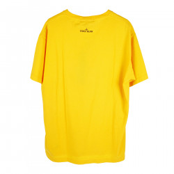 PRINTED YELLOW T SHIRT