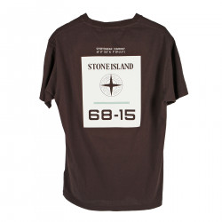 T SHIRT BORDEAUX CON STAMPA POSTERIORE