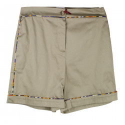 SHORTS MARRONI CON BORDO COLORATO