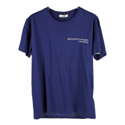 BLUE T SHIRT WITH BACK PRINT