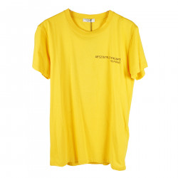 YELLOW T SHIRT WITH BEHIND PRINT