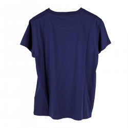 BLUE T SHIRT WITH FRONT PRINTING