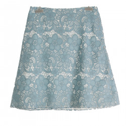 LIGHT BLUE SKIRT WITH LACE
