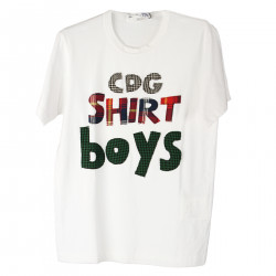 T SHIRT BIANCA CON TOPPE