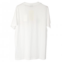 WHITE T SHIRT WITH FRONT PRINTING