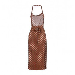 BROWN AND WHITE APRON