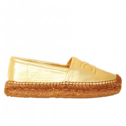 ESPADRILLAS ORO IN PELLE