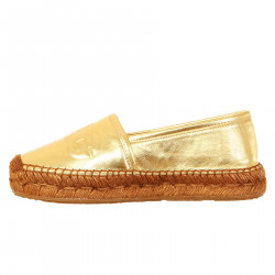 ESPADRILLAS GOLD IN LEATHER