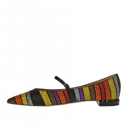 MULTICOLOR GLITTERED FLAT SHOE