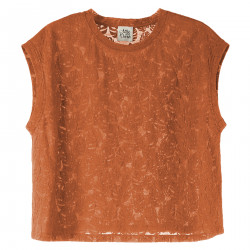 ORANGE SLEVELESS T SHIRT