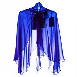 BLUE SILK STOLE