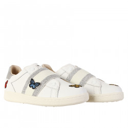 WHITE SNEAKER WITH BUTTERFLIES