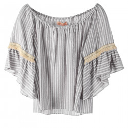 GREY STRIPES TOP