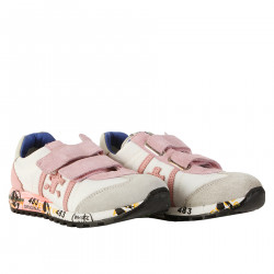 WHITE AND PINK SNEAKERS