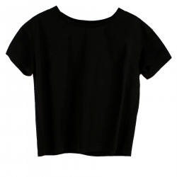 BLACK COTTON T SHIRT