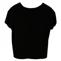 T SHIRT NERA IN COTONE