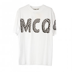 WHITE T SHIRT WITH PRINTED LOGO