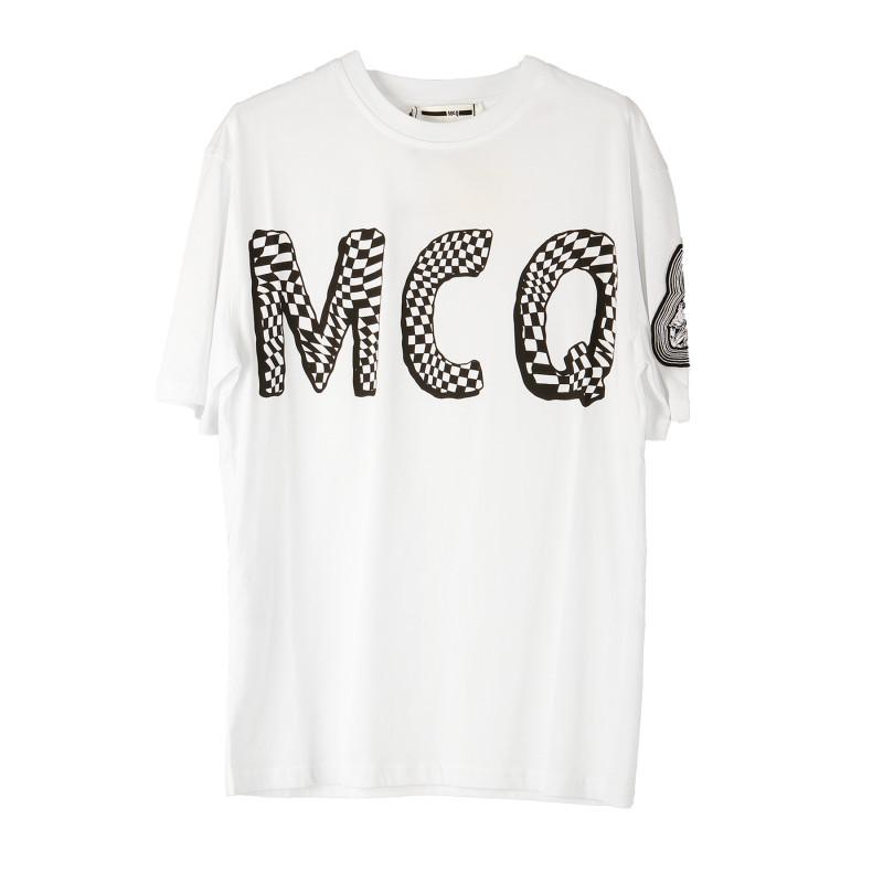 Bianca Logo Trovaprezzinuovo Shirt Alexander T Stampa Mcqueen Con OkXZiPuT