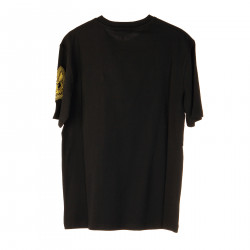 BLACK T SHIRT WITH EMBROIDERED LOGO