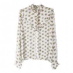 EMBELLISHED FLORAL SHIRT