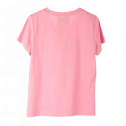 T SHIRT ROSA CON STAMPA