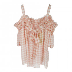 CHECKED PINK BLOUSE