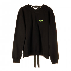 BLACK SWEATSHIRT WITH EYELETS