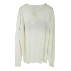 WHITE SWEATER WITH WRITTEN
